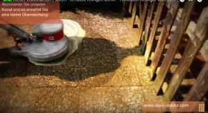 Waschbeton Terrasse reinigen