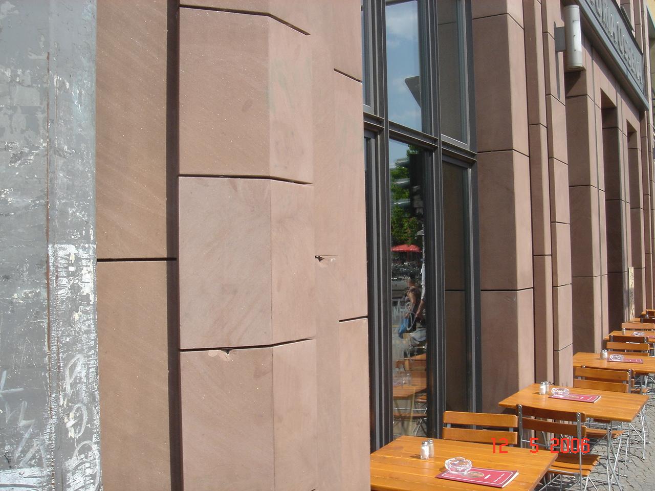 Sandstein Fassade reinigen Berlin