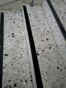 Terrazzostufen spachteln