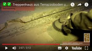 Altes Terrazzo Treppenhaus renovieren Beispiele. Betontreppe abschleifen