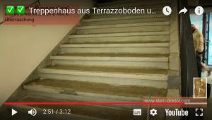 Altes Terrazzo Treppenhaus renovieren Beispiele. Betontreppe abschleifen und spachteln Stein-Doktor